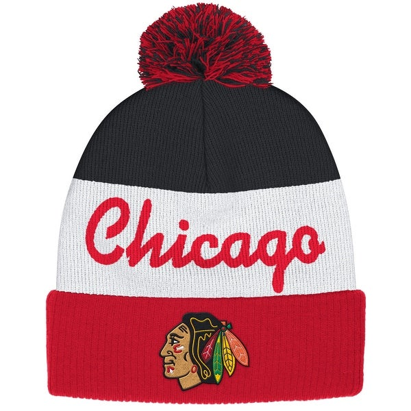 Shop Reebok Chicago Blackhawks Cuffed Pom Knit Hat - Free Shipping On  Orders Over  45 - Overstock.com - 18682489 d4522d14140