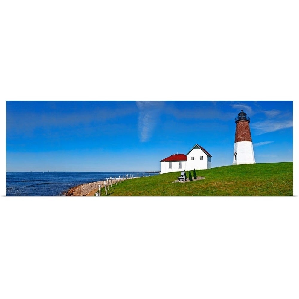 Hand Painted Rhode Island Lighthouse Model from The Lighthouse Collection POINT JUDITH