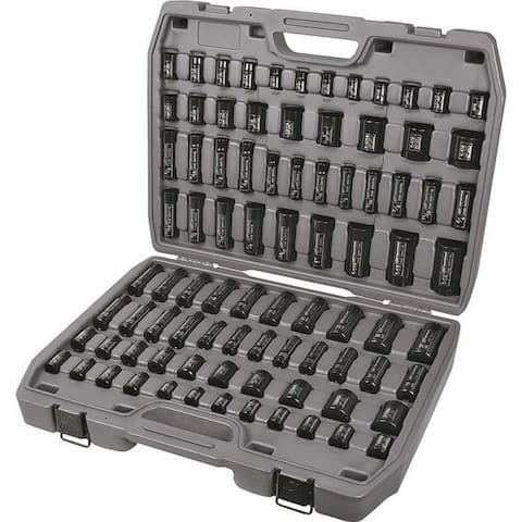 Ingersoll-Rand SK34C86N Mixed Length Impact Socket Set, 86 Pieces