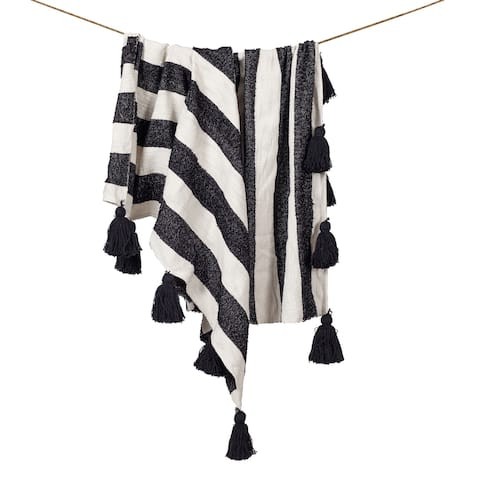 Poly and Bark Elin Striped Throw Blanket