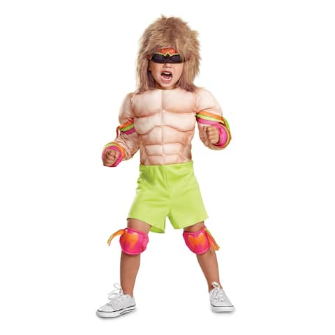 Toddler WWE Ultimate Warrior Muscle Costume