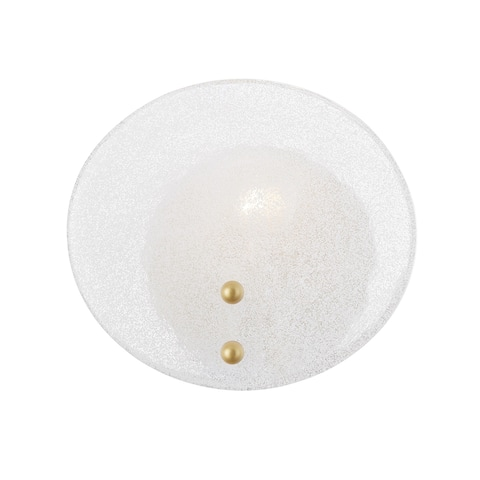 Mitzi by Hudson Valley Giselle 1-Light Wall Sconce with White Candy Glass