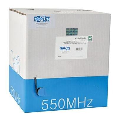 Tripp Lite 1000Ft Cat6 Gigabit Bulk Solid-Core Pvc Cable, Black