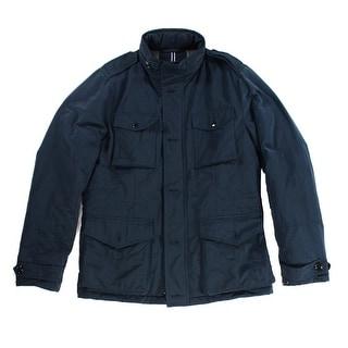 Tommy Hilfiger NEW Blue Mens Size Large L Multi-Pocket Field Jacket
