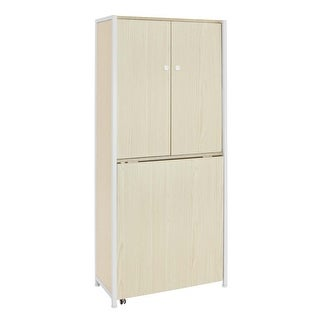 Offex Sew Ready Craft Armoire - White/Birch