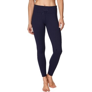Link to Betsey Johnson Women's Lace Inset High Waisted Activewear Fitness Leggings - Ink Similar Items in Athletic Clothing