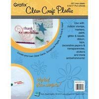"Clear .007 - Craft Plastic Sheets 8.5""X11"" 25/Pkg"