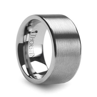 THORSTEN - MERCURY Flat Brush Finish Tungsten Wedding Ring - 12mm