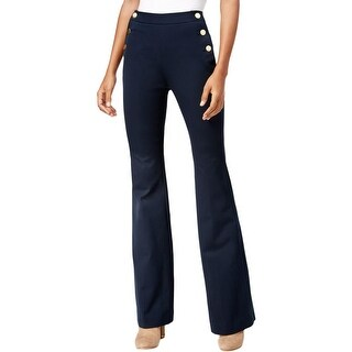 Michael Kors Womens Dress Pants Flare Sailor Button
