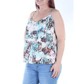 FRENCH CONNECTION $88 Womens New 8384 Ivory Printed Spaghetti Strap Top 12 B+B