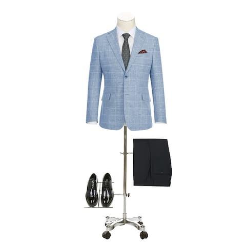 Men's Summer Slim Fit Pliad Blazer Cotton Linen Sport Coat