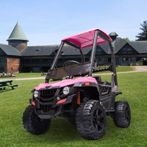 Powered Ride-On UTV with ceiling 12V Battery Parent Remote Control
