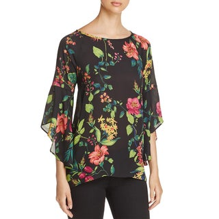 Status by Chenault Womens Tunic Top Crepe Hi Low - xL