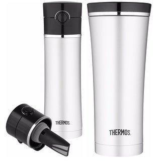 Thermos Vacuum Insulated Tea Infuser Drink Bottle / Sipp Travel Tumbler Bundle