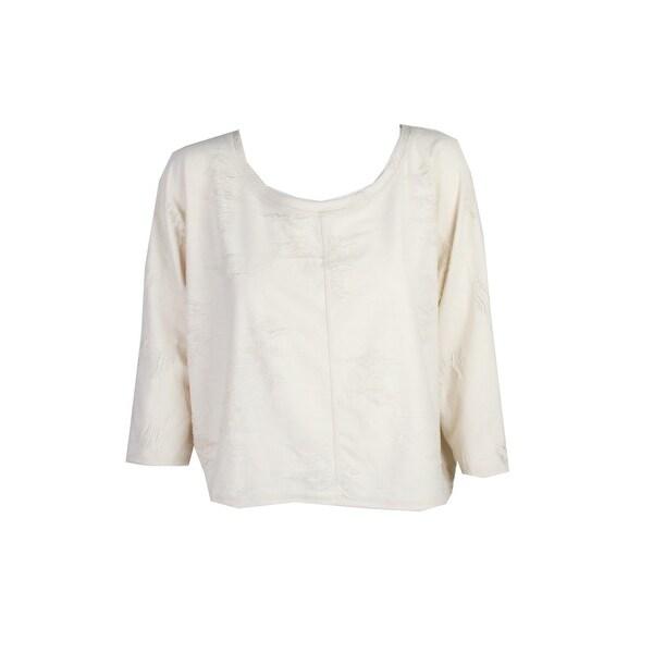 3a9c203b6c Shop Rachel Rachel Roy Natural Shredded Off-The-Shoulder Sweater M ...