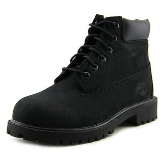 Timberland 6in Prem Youth W Round Toe Leather Black Boot