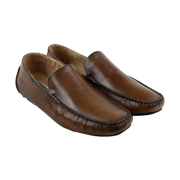 Kenneth Cole New York Family Man Mens Brown Casual Dress Loafers Shoes f26775e130