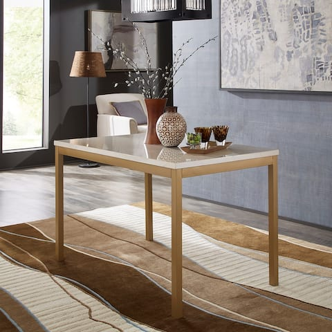 Darcy Gold with Faux Marble Top Dining Table by iNSPIRE Q Bold