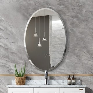 Link to Mirror Trend Oval Frameless Beveled Wall Mirror DM010-2232 22''X 32'' - 22*32*0.71 Similar Items in Mirrors