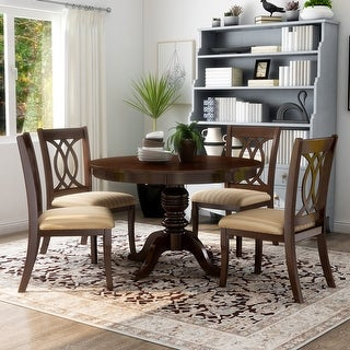 Link to Furniture of America Wole Country Cherry Solid Wood 5-piece Dining Set Similar Items in Dining Room & Bar Furniture