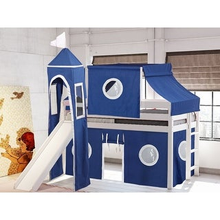 Link to JACKPOT Prince & Princess Low Loft Twin Bed with Slide, Tent & Tower Similar Items in Kids' & Toddler Beds
