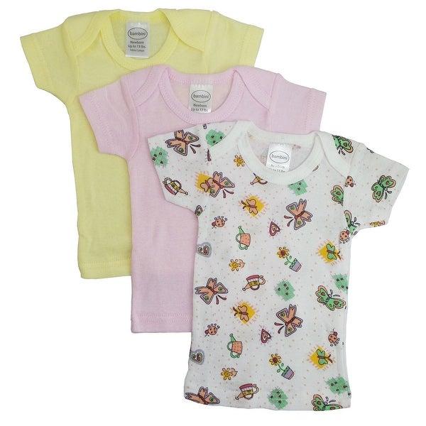Bambini Girls Printed Short Sleeve Variety Pack - Size - Medium - Girl