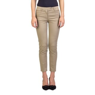 Prada Women's Cotton Slim Fit Chino Pants Khaki