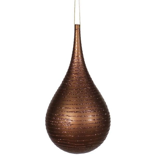 """4"""" Chocolate Matte-Glitter Onion Drop"""