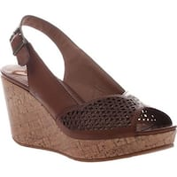 Madeline Women's Doting Wedge Slingback Sandal Brown Sugar Synthetic