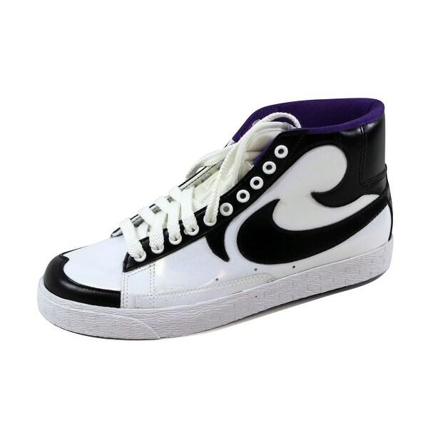 Nike Men's Blazer High White/Black-Club Purple 315877-100 Size 8.5