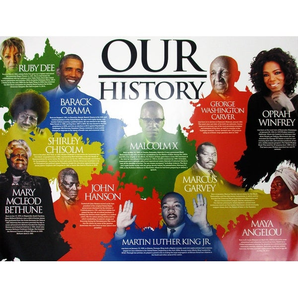 Our Black History Poster African American (18x24) - Multi-Color