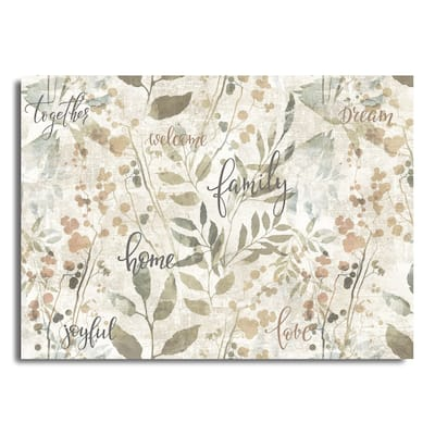 """Asher Home Family Rectangle Printed Placemats 18""""x13"""""""