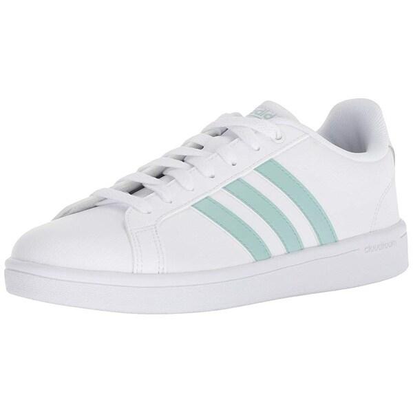 671759b81c Shop Adidas Women's Cf Advantage Sneaker, White/Ash Green/Light ...