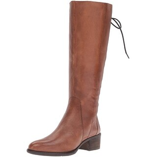 Steve Madden Womens Laceupp Leather Closed Toe Mid-Calf Fashion Boots