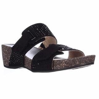 naturalizer Carena Wedge Slide Sandals - Black