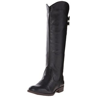 Fergalicious Womens Lullaby Riding Boots Faux Leather Knee-High