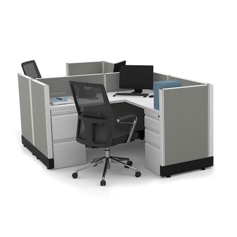 System Furniture 39H 2pack Cluster Powered