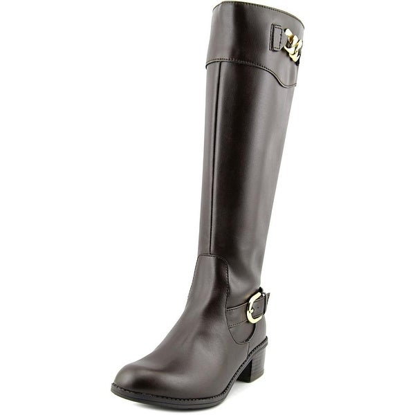 Karen Scott Darlaa Wide Calf Women Round Toe Synthetic Knee High Boot