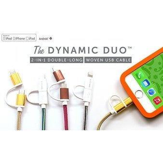 2 in 1 Charger Cable for iPhone and Android Phones