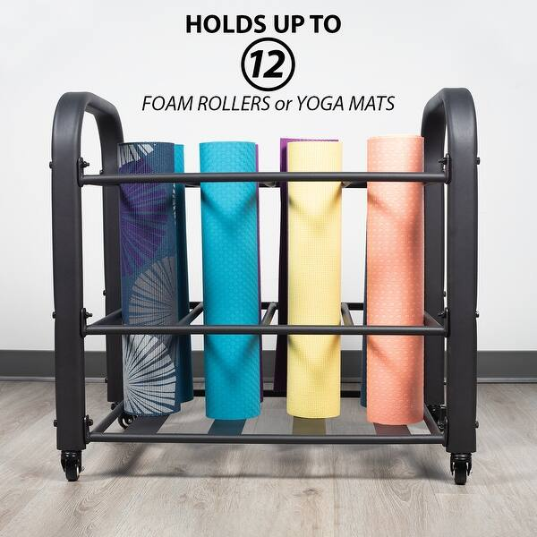 Shop Synergee Yoga Mat Storage Rack Storage Cart For Yoga Mats Foam Rollers Mobility Equipment Perfect For Yoga Studio On Sale Overstock 30326418