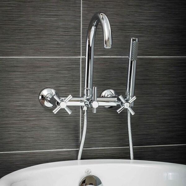 Shop Pelham Amp White Luxury Tub Filler Faucet Modern