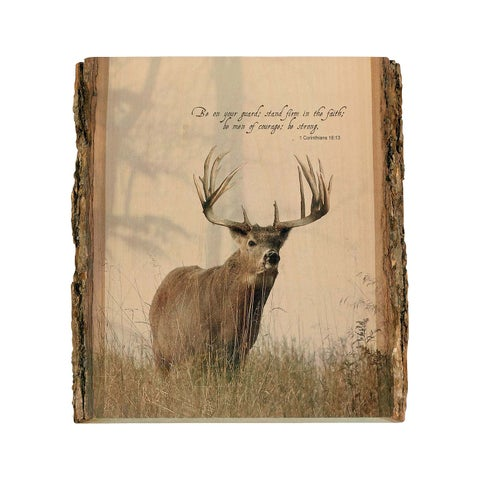 Legendary Whitetails Natural Wood Wall Art - Brown - One Size Fits most
