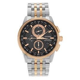 Citizen Men's AT8116-57E World Chronograph Two-tone Stainless Steel Link Watch