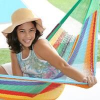 Sunnydaze Multi-Colored Mayan Hammock & Hammock Stand