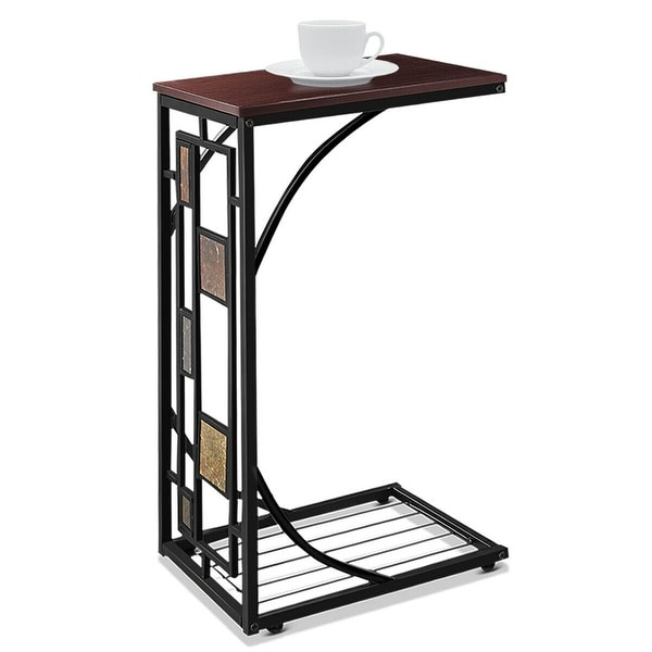 Costway Coffee Tray Side Sofa Table Ottoman Couch Room Console Stand End TV Lap Snack