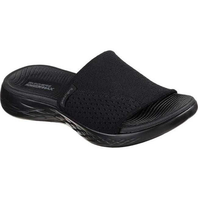 6330de4c05af Shop Skechers Women s On the GO 600 Nitto Slide Sandal Black Black - On  Sale - Free Shipping On Orders Over  45 - Overstock - 19114186