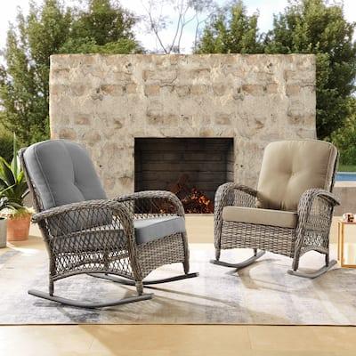 Corvus Salerno Outdoor Hand-Woven Resin Wicker Rocking Chair