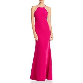 Link to Laundry by Shelli Segal Womens Evening Dress Cut-Out Sleeveless - Hot Pink Similar Items in Dresses