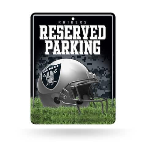 Oakland Raiders Sign Metal Parking Alternate