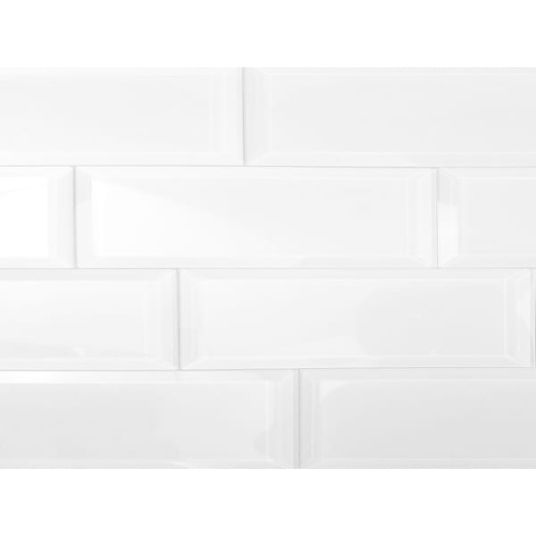 "Miseno MT-WHSFEG0312-IS Frosted Elegance - 3"" x 12"" Rectangle Wall Tile - Glossy Visual - White"